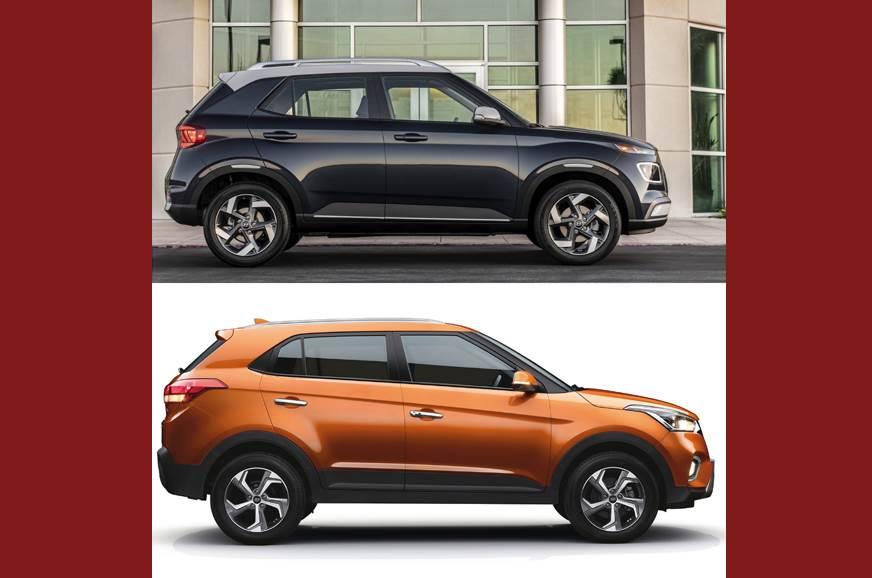 2020 Hyundai Venue: Design, Specs, Equipment, Price >> Hyundai Venue Vs Creta An Analysis Autocar India