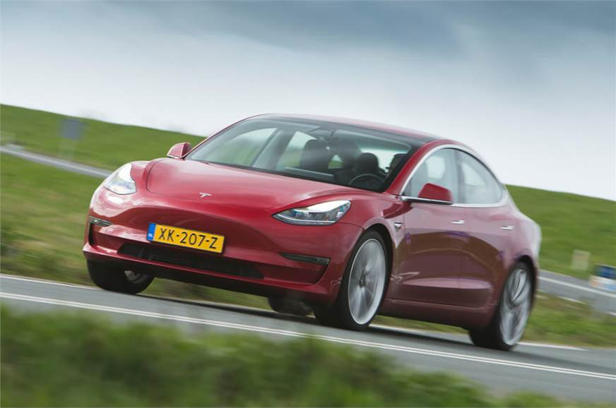 450hp Tesla Model 3 Performance driven - Autocar India