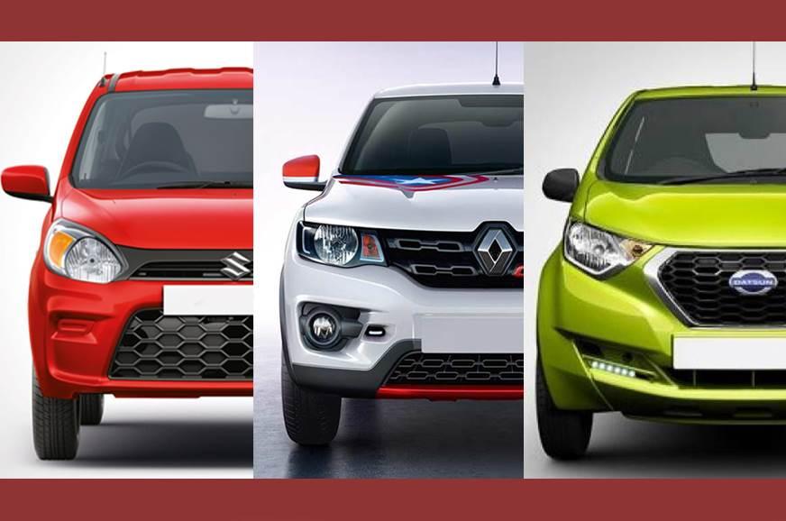 2019 Alto price compared with Kwid and Redigo - Autocar India