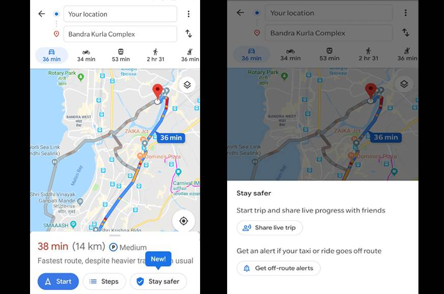 Google Maps 'Stay Safer' feature launched in India - Autocar India