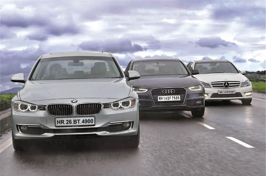 BMW 320d v Audi A4 2 0TDI v Merc C250 CDI - Feature