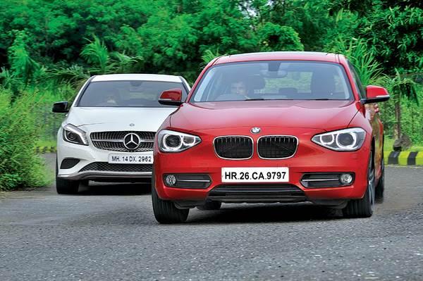 mercedes a180 cdi vs bmw 118d diesel - feature - autocar india