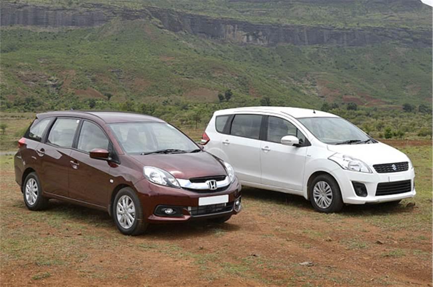 Honda Mobilio Diesel Vs Maruti Ertiga Comparison Feature Autocar