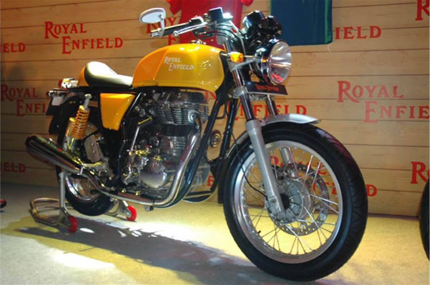 Royal Enfield Continental Gt Yellow Shade Photo Gallery Autocar India