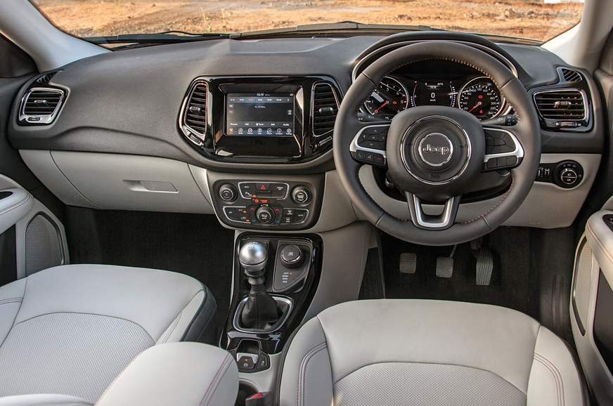 2017 jeep compass images interior details autocar india. Black Bedroom Furniture Sets. Home Design Ideas