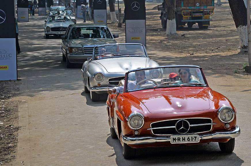 2017 Mercedes Classic Car Rally image gallery - Autocar India
