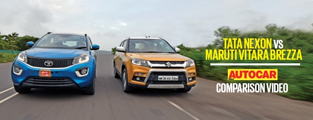 2017 Tata Nexon vs Maruti Vitara Brezza comparison video