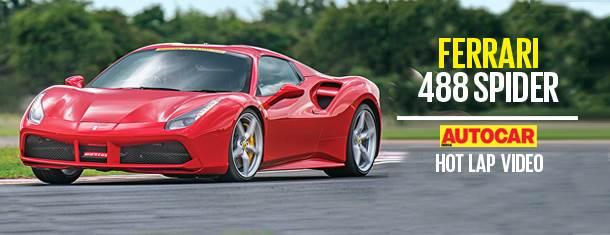 HOT LAP: Ferrari 488 Spider Autocar India Track Day 2018 video