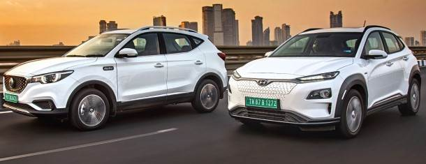 MG ZS EV vs Hyundai Kona Electric comparison video