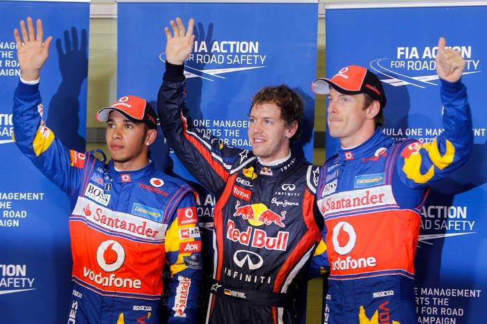 Vettel equals Mansell's record with 14th pole