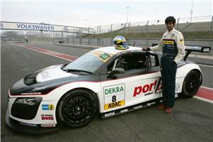 Aditya Patel completes Audi R8 LMS test