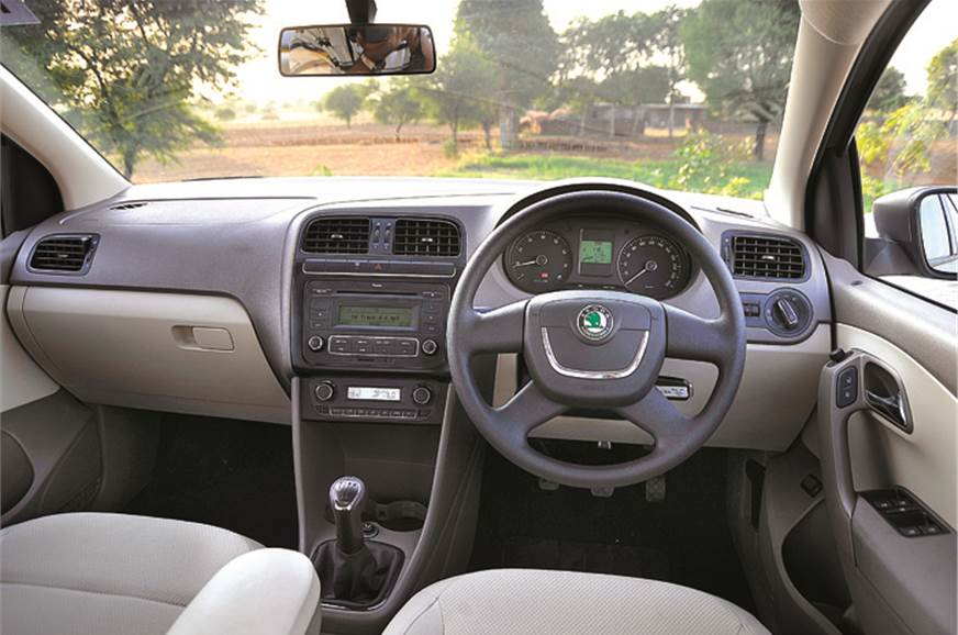 Dashboard very similar to that of the Vento, save for the...