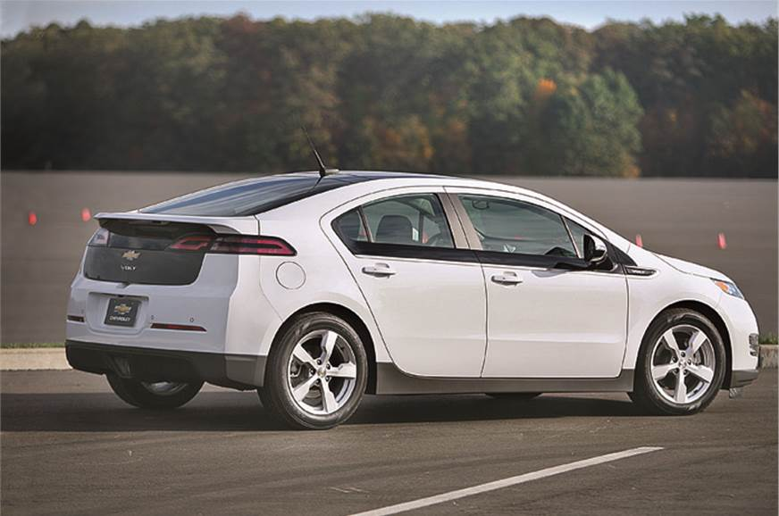 Wedge-like profile and smart details mean the Volt looks ...