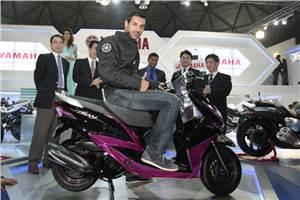 Yamaha showcases Indian scooter