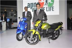 Suzuki Motorcycle launches Hayate, Swish