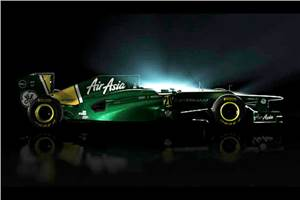 Caterham F1 team unveils 2012 challenger