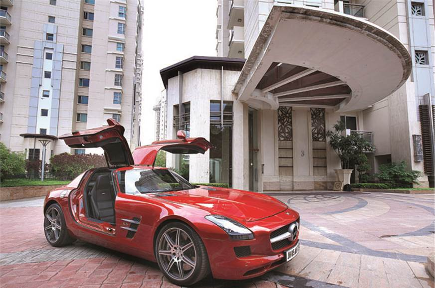 The svelte lines of the modern-day SLS originate in the 3...