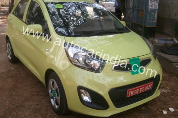 Kia Picanto spotted on Indian roads