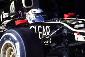Raikkonen quickest in first F1 test of 2012