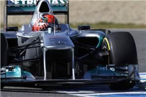 Schumacher fastest on Day 2 at Jerez