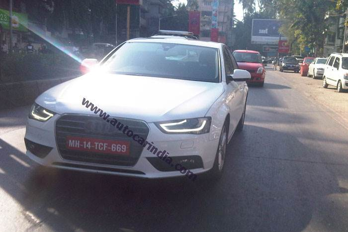 New Audi A4 spied in Mumbai