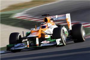 Hulkenberg on top at Barcelona on day two