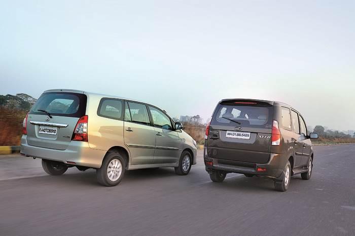 Xylo E9 Vs Innova Vx Feature Autocar India