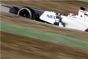 Kobayashi fastest as Barcelona test ends
