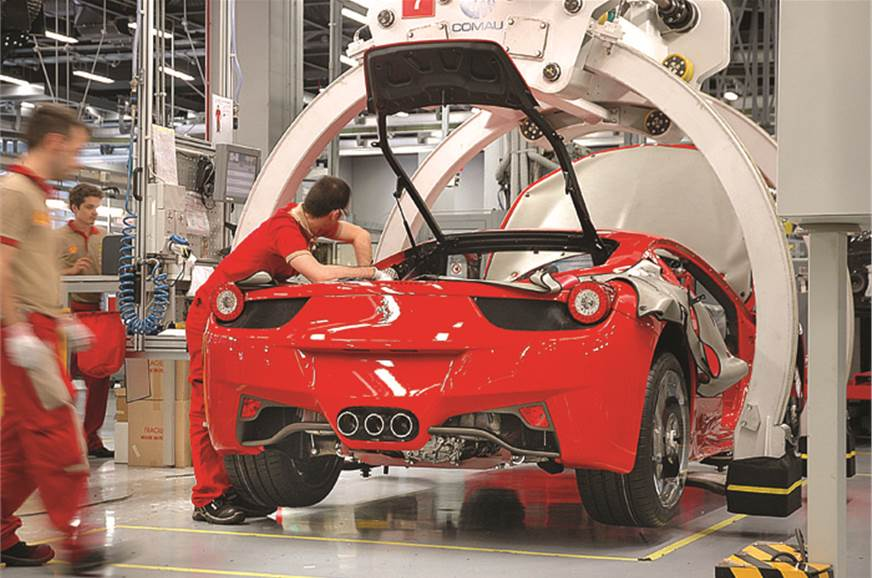 The smallest engine they build at Maranello has eight cyl...