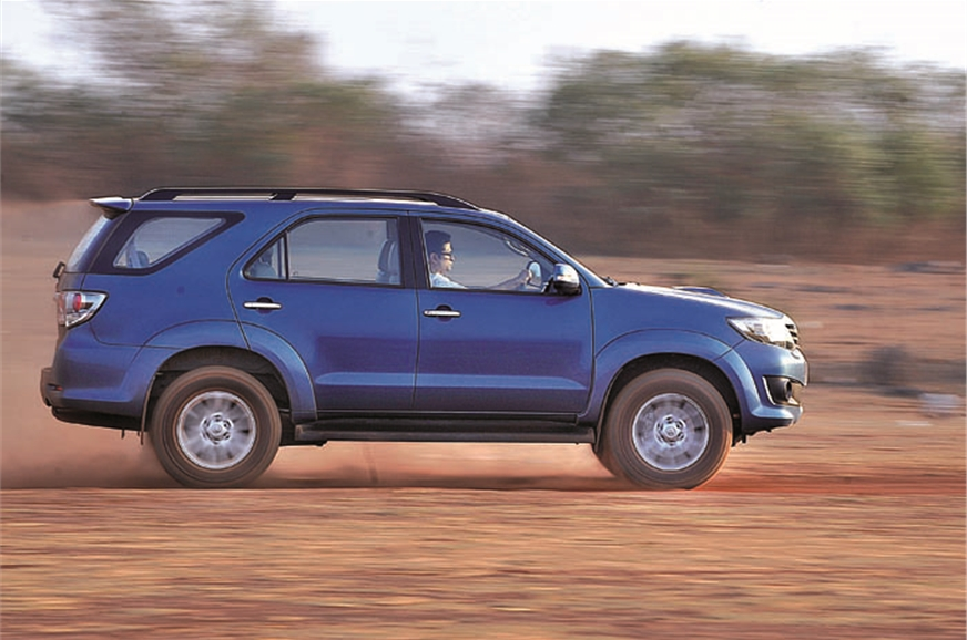 The ride is bumpy but the Fortuner feels tough enough to ...