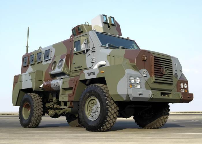 Tata Motors shows new combat vehicle range