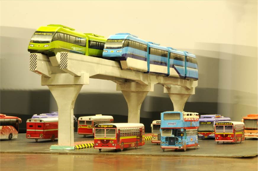 Mumbai's upcoming monorail. Here's where you saw it first...