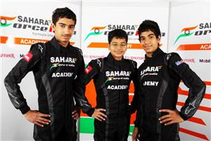 Force India academy drivers make European debut