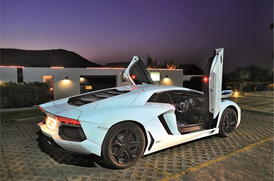 Scissor doors make the Lambo even more otherwordly.