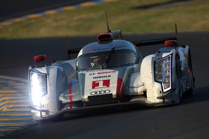 #1 Audi crew wraps up victory at 2012 Le Mans