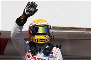 Lewis on pole for Hungarian GP
