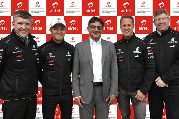 Airtel partners with Mercedes AMG F1