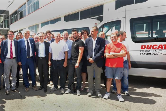 Ducati donates VW vans