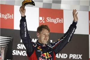 Vettel wins at Singapore as Hamilton retires