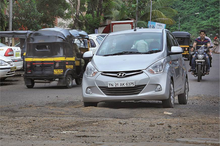 The Eon's softly sprung suspension dealt with Mumbai's in...