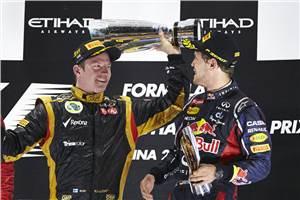 Raikkonen wins for Lotus at Abu Dhabi
