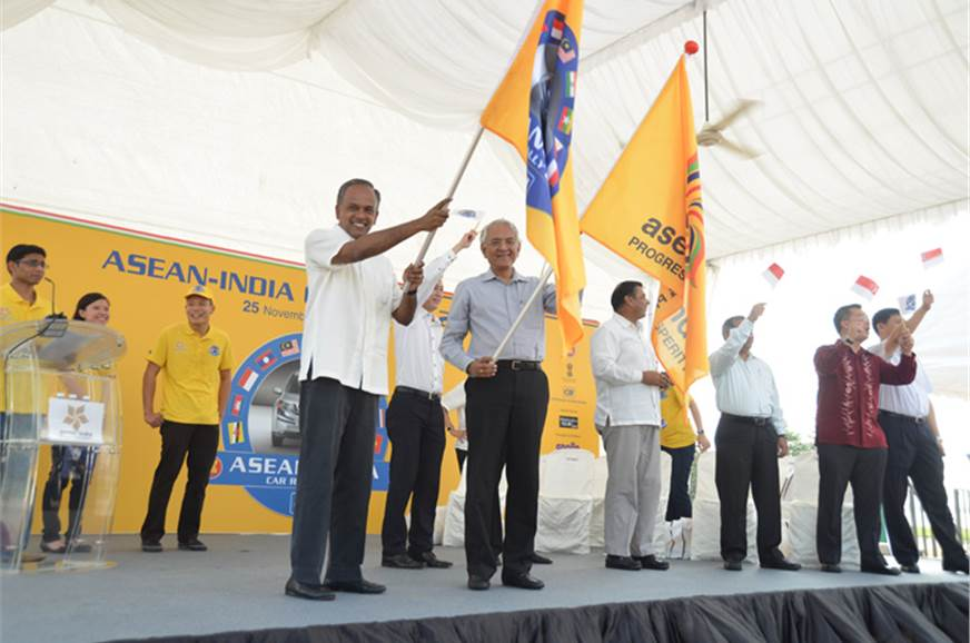 The historic ASEAN rally is flagged off from Singapore.