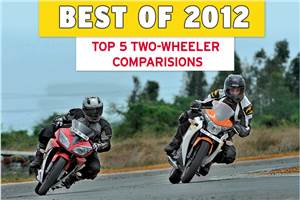 Best of 2012: Top 5 two-wheeler comparisons