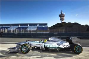 Mercedes' new W04 makes debut at Jerez