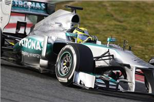 Rosberg sets the pace at Barcelona