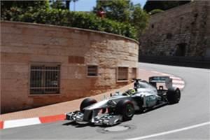 Monaco GP: Rosberg blitzes messy final practice