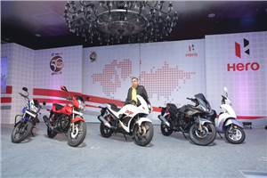 Hero MotoCorp showcases 2014 line-up