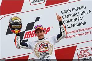 MotoGP: Marquez crowned champion as Lorenzo wins