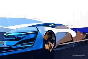 New Honda fuel-cell car teased