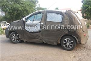 New Tata hatchback spied